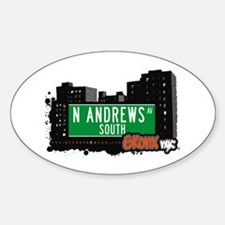 N Andrews Av South, Bronx, NYC Oval Decal