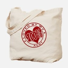 100% Loved By My Aunt Tote Bag