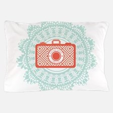 red camera Pillow Case