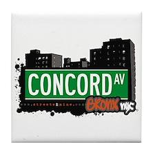 Concord Av, Bronx, NYC  Tile Coaster