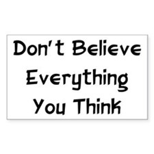 Don't Believe Everything Rectangle Decal