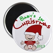 Santa Baby 1st Christmas 2013 Magnet