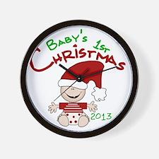 Santa Baby 1st Christmas 2013 Wall Clock