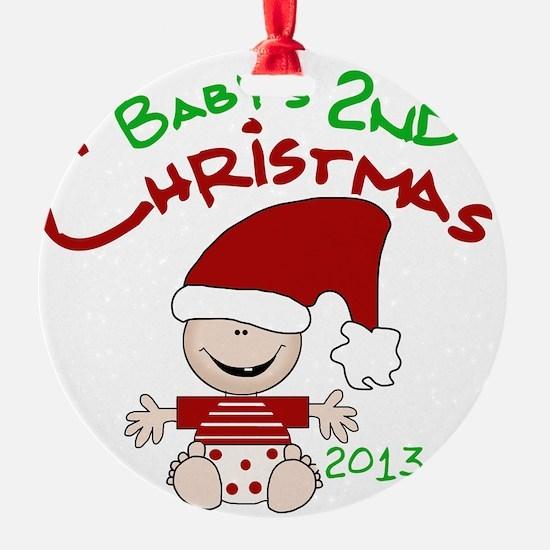 Santa Baby 2nd Christmas 2013 Ornament