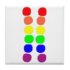RAINBOW PRIDE CIRCLES/VERTICA Tile Coaster