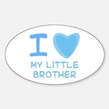 Blue I Heart (Love) My Little Brother Decal