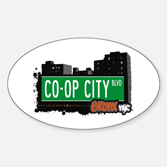 Co-Op City Blvd, Bronx, NYC Oval Decal