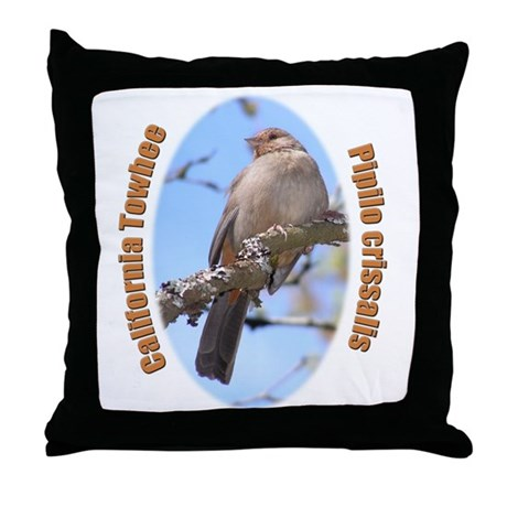 California Towhee Throw Pillow