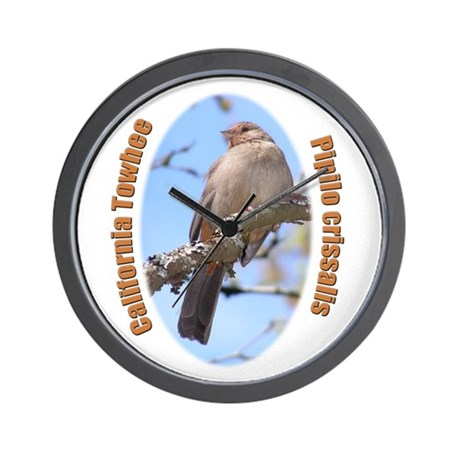 California Towhee Wall Clock