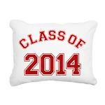 Class Of 2014 Red Rectangular Canvas Pillow