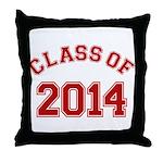 Class Of 2014 Red Throw Pillow