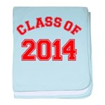 Class Of 2014 Red baby blanket
