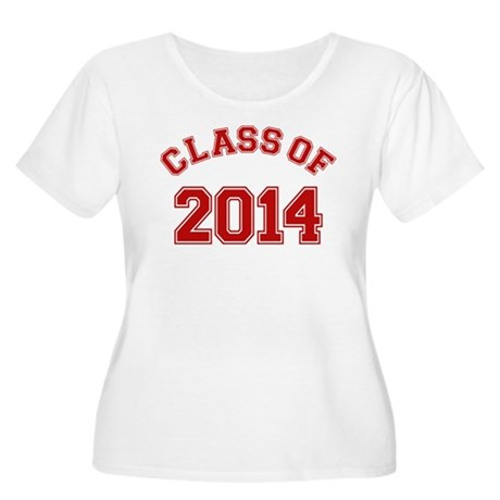 Class Of 2014 Red Plus Size T-Shirt