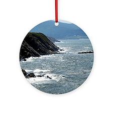 St Lawrence Bay Coast of Cape Breto Round Ornament