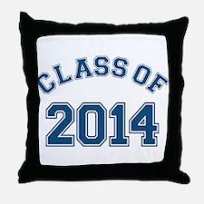 Class Of 2014 Blue Throw Pillow