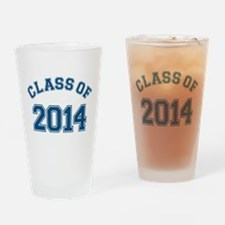 Class Of 2014 Blue Drinking Glass