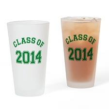 Class Of 2014 Green Drinking Glass