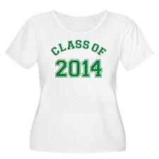 Class Of 2014 Green Plus Size T-Shirt