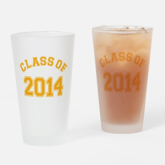Class Of 2014 Yellow Drinking Glass