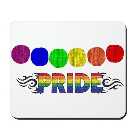 RAINBOW PRIDE/CIRCLES/WOODGRA Mousepad