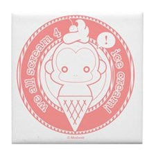 Cute Ice Cream Monkey Tile Coaster