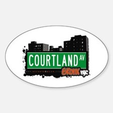 Courtland Av, Bronx, NYC Oval Decal