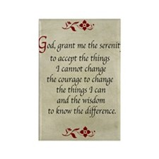 Serenity Prayer-Vintage Rectangle Magnet