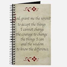 Serenity Prayer-Vintage Journal