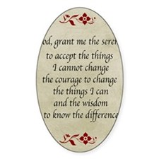 Serenity Prayer-Vintage Decal