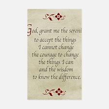 Serenity Prayer-Vintage Sticker (rectangle)