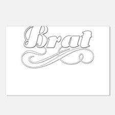 BLUEbratwhite.png Postcards (Package of 8)