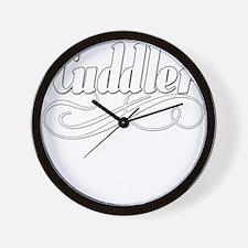 BLUEcuddlerwhite.png Wall Clock