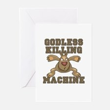 """""""Godless Killing Machine"""" Greeting Cards (Package"""