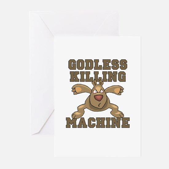 """Godless Killing Machine"" Greeting Cards (Package"