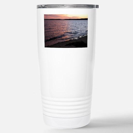 Multicolor sunset Port  Stainless Steel Travel Mug