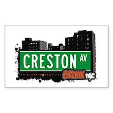 Creston Av, Bronx, NYC Rectangle Decal