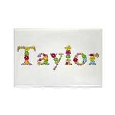 Taylor Bright Flowers Rectangle Magnet