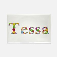 Tessa Bright Flowers Rectangle Magnet