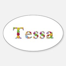Tessa Bright Flowers Oval Decal