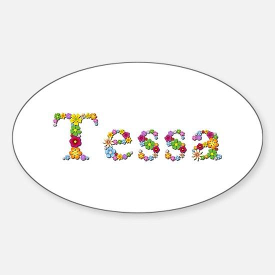Tessa Bright Flowers Oval Decal