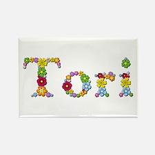 Tori Bright Flowers Rectangle Magnet