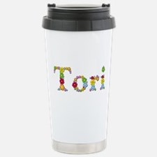 Tori Bright Flowers Travel Mug