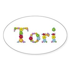 Tori Bright Flowers Oval Decal