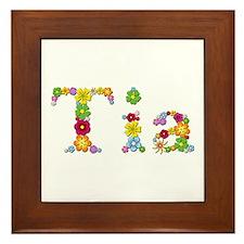 Tia Bright Flowers Framed Tile