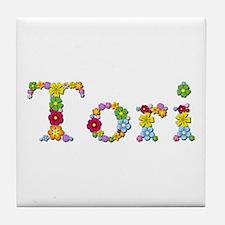 Tori Bright Flowers Tile Coaster