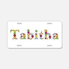 Tabitha Bright Flowers Aluminum License Plate