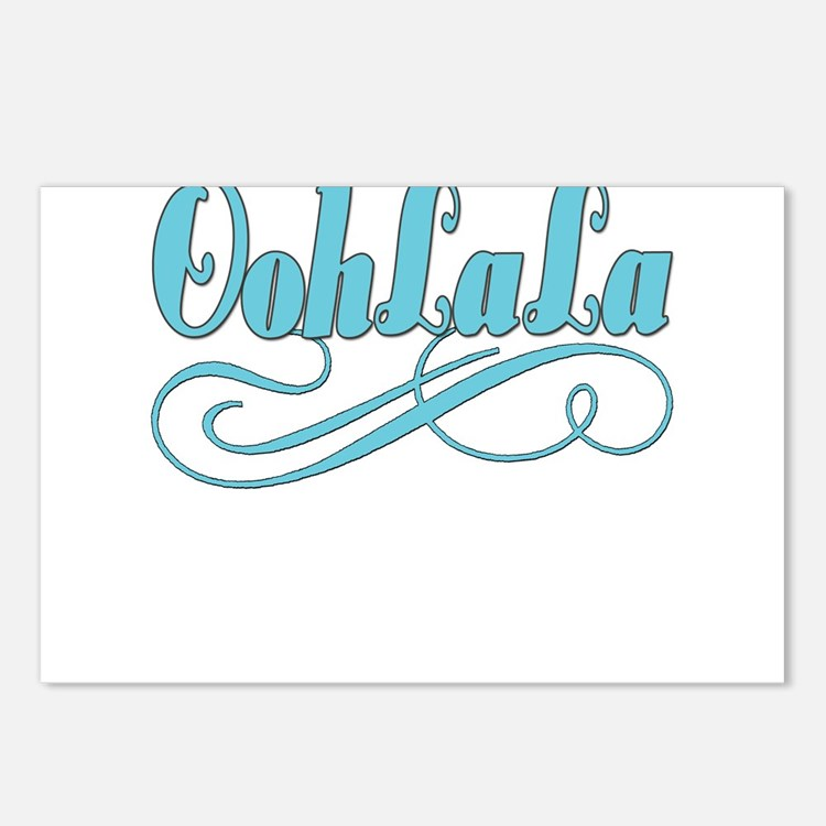 BLUEoohlala copy.png Postcards (Package of 8)