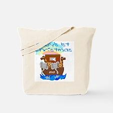 Noahs Ark 1st Christmas 2013 Tote Bag