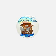 Noahs Ark 1st Christmas 2013 Mini Button
