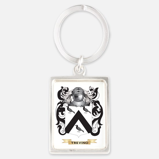Trevino Family Crest (Coat of Ar Portrait Keychain
